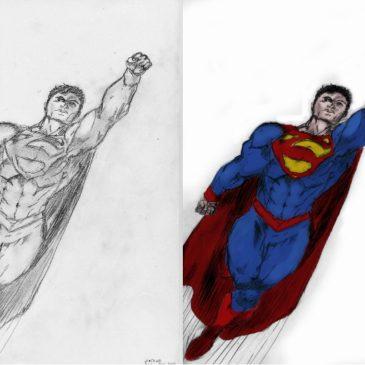 Superbohaterowie, czyli rysunki Fotografa :)