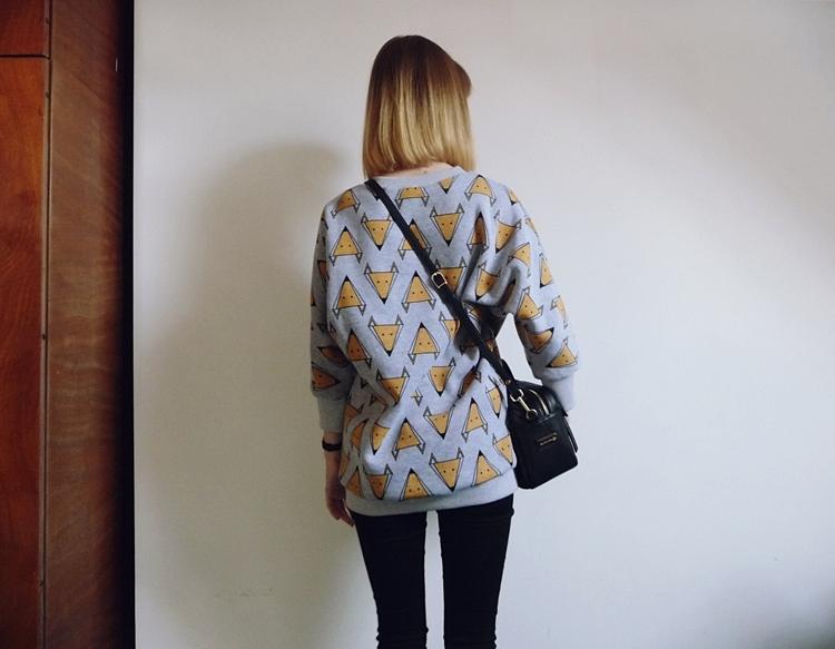 bluza w lisy